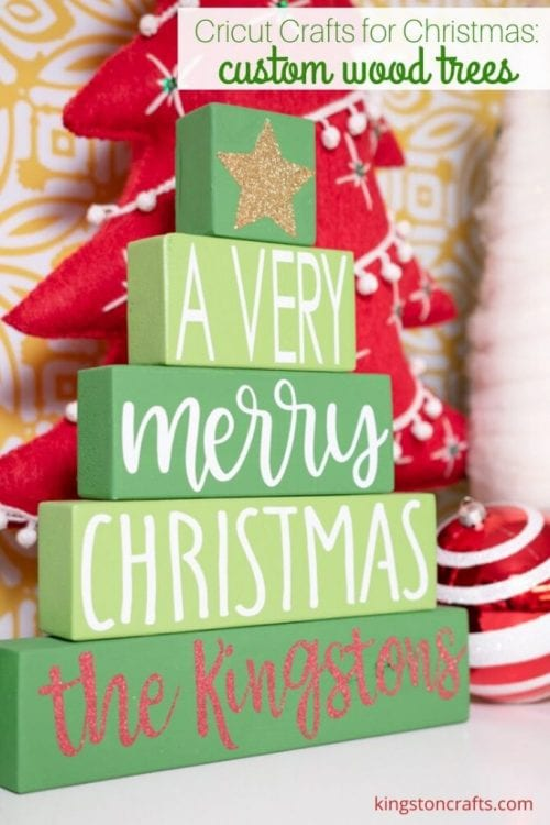 25 Cricut Personalized Gifts featured by top US craft blog, The Crafty Blog Stalker: custom wood trees.