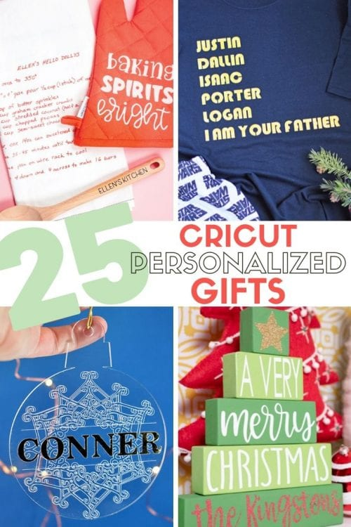 25 Cricut Personalized Gifts featured by top US craft blog, The Crafty Blog Stalker.