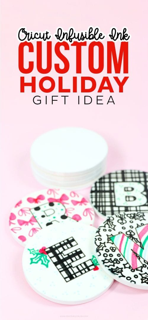 25 Cricut Personalized Gifts featured by top US craft blog, The Crafty Blog Stalker: custom coasters.