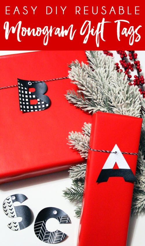 25 Cricut Personalized Gifts featured by top US craft blog, The Crafty Blog Stalker: reusable gift tag.