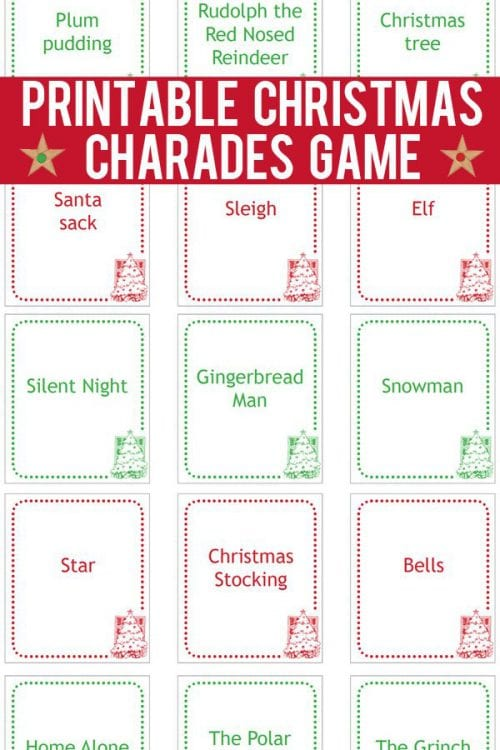 20 Super Fun Christmas Party Games for the Holidays featured by top US craft blog, The Crafty Blog Stalker: Christmas Charades.
