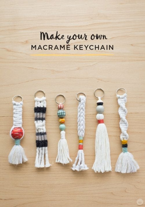 20 of the Best Handmade Keychains & Keyrings featured by top US craft blog, The Crafty Blog Stalker: diy tassel and macrame keychains.