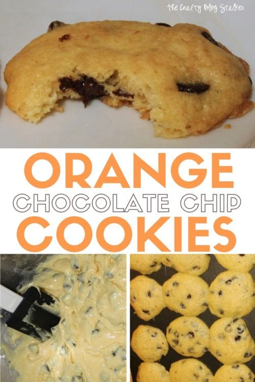 How to Make Orange Chocolate Chip Cake Batter Cookies, a tutorial featured by top US craft blog, The Crafty Blog Stalker.