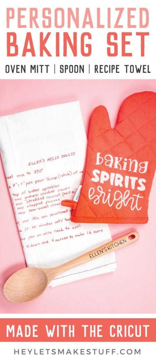 25 Cricut Personalized Gifts featured by top US craft blog, The Crafty Blog Stalker: personalized baking set.