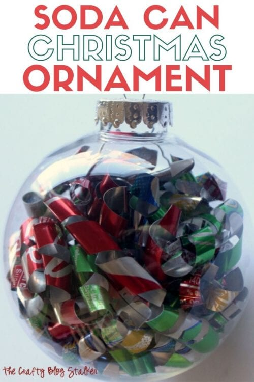 How to Make a Soda Can Christmas Ornament, a tutorial featured by top US craft blog, The Crafty Blog Stalker.