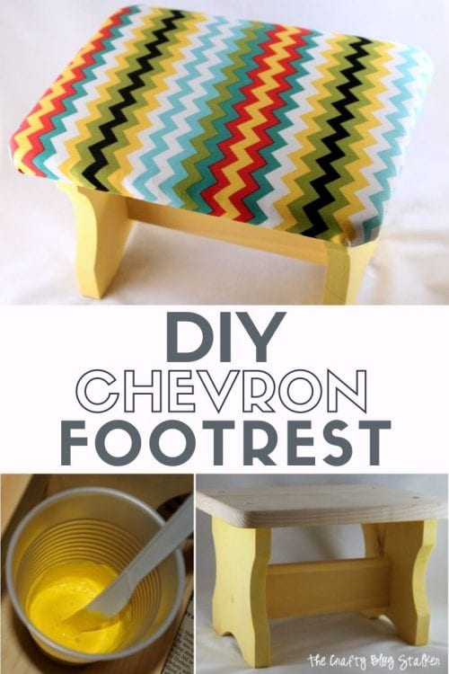 How to Make a DIY Chevron Footrest tutorial featured by top US craft blog, The Crafty Blog Stalker.