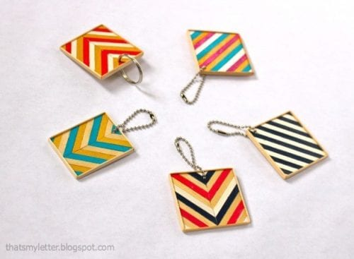 20 of the Best Handmade Keychains & Keyrings featured by top US craft blog, The Crafty Blog Stalker: DIY wood keychain.