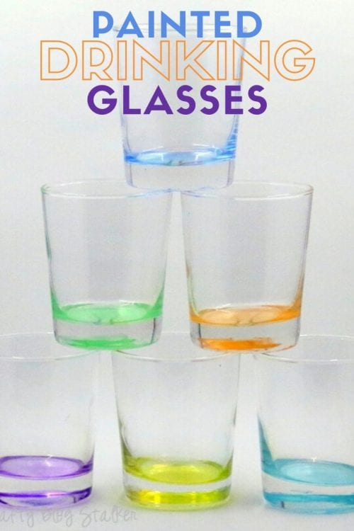 How to Make Colored Drinking Glasses with Glass Paint tutorial featured by top US craft blog, The Crafty Blog Stalker.