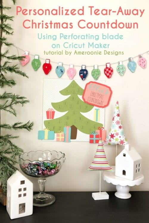 25 Cricut Personalized Gifts featured by top US craft blog, The Crafty Blog Stalker: personalized Christmas countdown calendar.