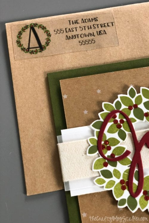 How to Make DIY Return Address Labels with Cricut, a tutorial featured by top US craft blog, The Crafty Blog Stalker.