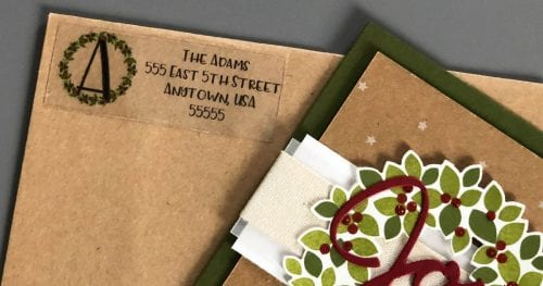 DIY return address labels with cricut, a tutorial featured by top US craft blog, The Crafty Blog Stalker.