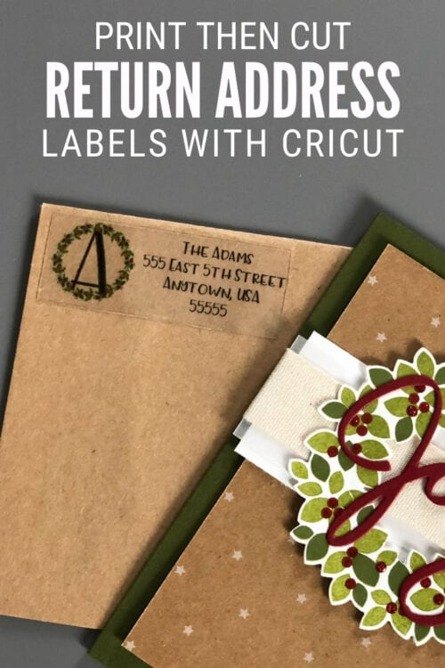 title image for How to Make DIY Return Address Labels with Cricut
