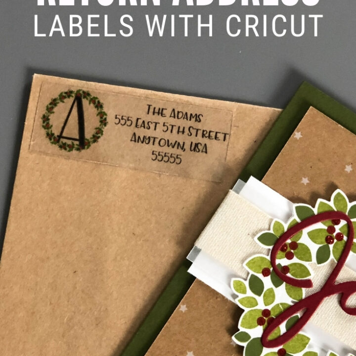 custom return address labels cricut 15