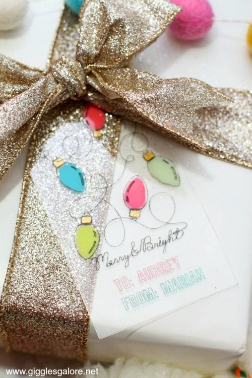 25 Cricut Personalized Gifts featured by top US craft blog, The Crafty Blog Stalker: engraved acrylic Christmas tags.