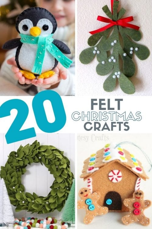 20 Felt Christmas Crafts You Can Make for the Holidays featured by top US craft blog, The Crafty Blog Stalker.