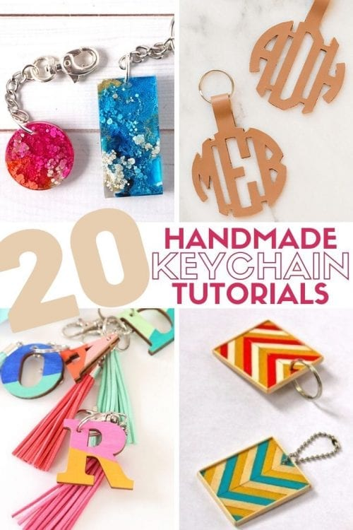 20 of the Best Handmade Keychains & Keyrings featured by top US craft blog, The Crafty Blog Stalker.