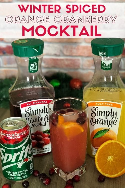 3 Festive Holiday Party Drinks & Mocktails, a tutorial featured by top US craft blog, The Crafty Blog Stalker: winter spiced orange cranberry mocktail