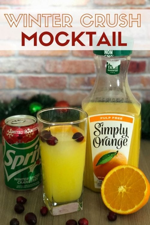 3 Festive Holiday Party Drinks & Mocktails, a tutorial featured by top US craft blog, The Crafty Blog Stalker: winter Crush Mocktail