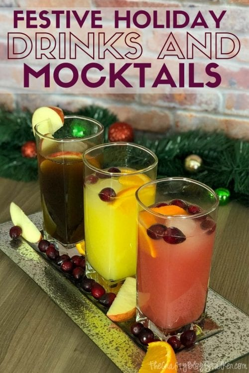 3 Festive Holiday Party Drinks & Mocktails, a tutorial featured by top US craft blog, The Crafty Blog Stalker.