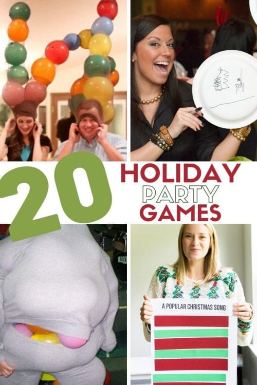20 Super Fun Christmas Party Games for the Holidays featured by top US craft blog, The Crafty Blog Stalker.