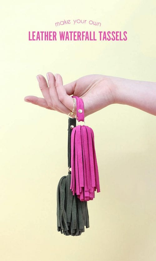 20 of the Best Handmade Keychains & Keyrings featured by top US craft blog, The Crafty Blog Stalker: leather tassel keychain.