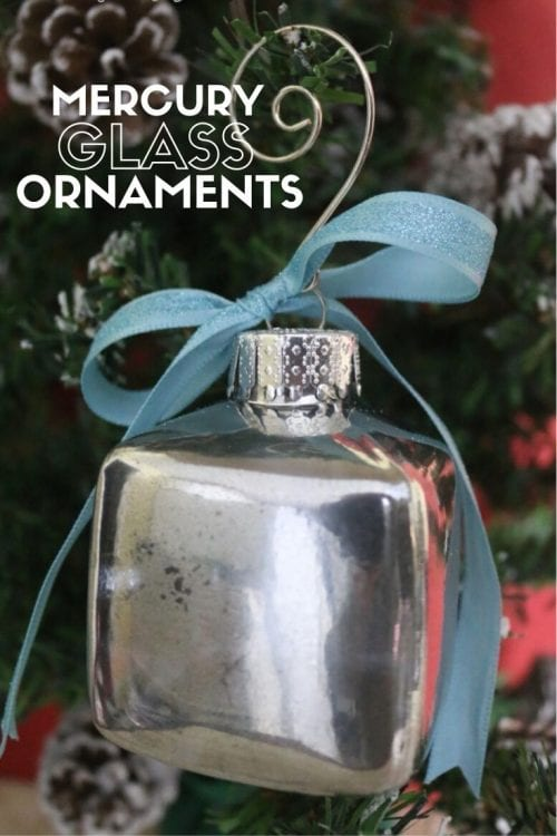 How to Make Mercury Glass Ornaments, a tutorial featured by top US craft blog, The Crafty Blog Stalker.