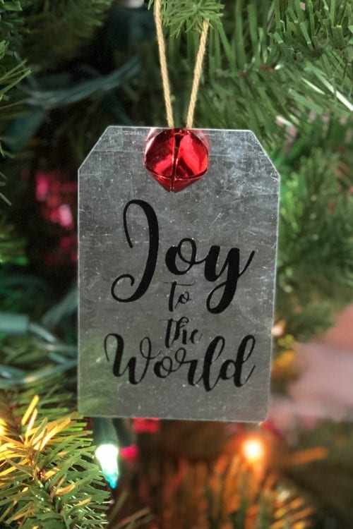 How to Make your Own DIY Metal Tag Ornaments, a tutorial featured by top US craft blog, The Crafty Blog Stalker.