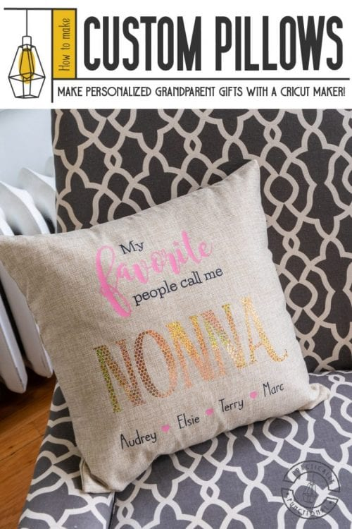 25 Cricut Personalized Gifts featured by top US craft blog, The Crafty Blog Stalker: custom pillows.