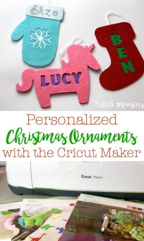 25 Cricut Personalized Gifts featured by top US craft blog, The Crafty Blog Stalker:personalized ornaments.