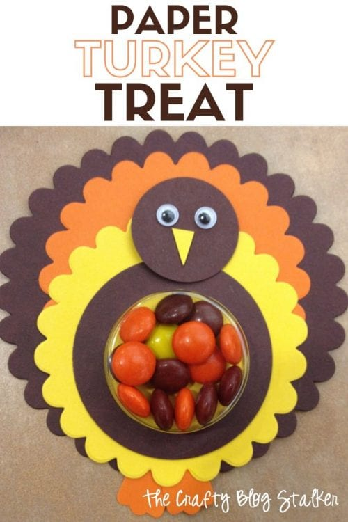 How to Make Paper Turkey Treats, a tutorial featured by top US craft blog, The Crafty Blog Stalker.
