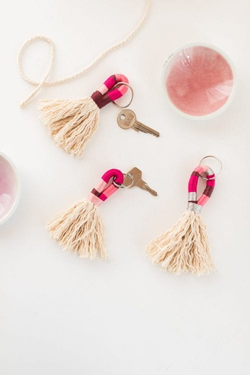 20 of the Best Handmade Keychains & Keyrings featured by top US craft blog, The Crafty Blog Stalker: tassel keychains