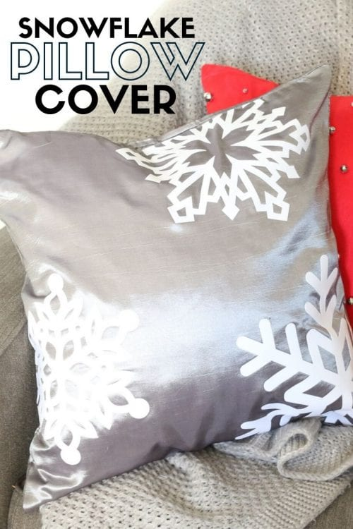 How to Make a Snowflake Pillow Cover, a tutorial featured by top US craft blog, The Crafty Blog Stalker.