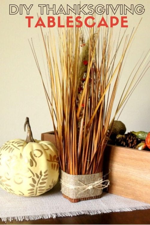 How to DIY a Thanksgiving Tablescape tutorial featured by top US craft blog, The Crafty Blog Stalker.