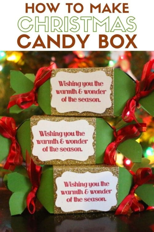 How to Make Christmas Candy Box Party Favors, a tutorial featured by top US craft blog, The Crafty Blog Stalker.