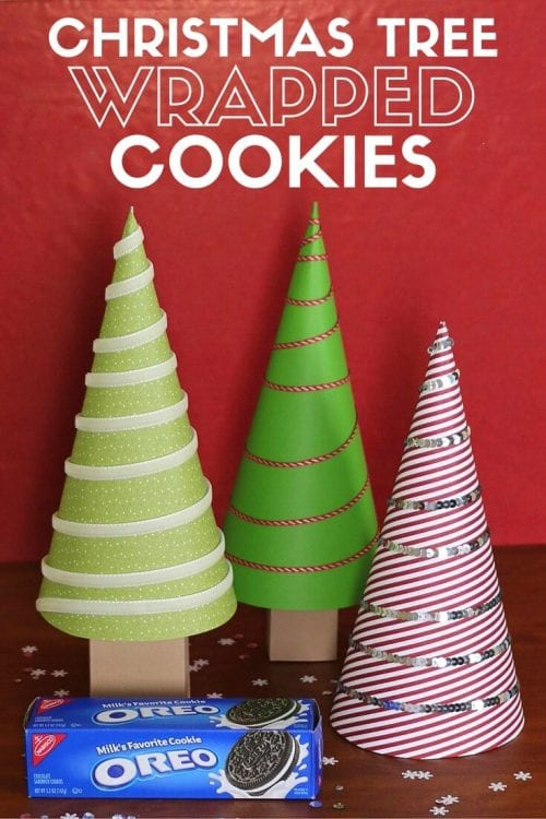 How to Make Christmas Tree Wrapped Cookies, a tutorial featured by top US craft blog, The Crafty Blog Stalker.