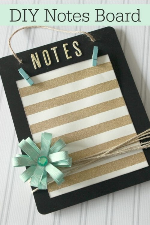 20 Handmade Gift Ideas featured by top US craft blog, The Crafty Blog Stalker: DIY Notes Board