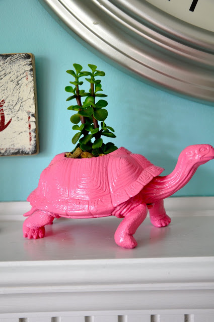 20 Handmade Gift Ideas featured by top US craft blog, The Crafty Blog Stalker: Plastic Toy Planter