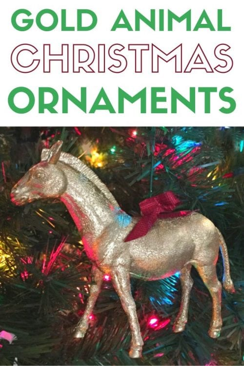 How to Make Gold Animal Ornaments, a tutorial featured by top US craft blog, The Crafty Blog Stalker.
