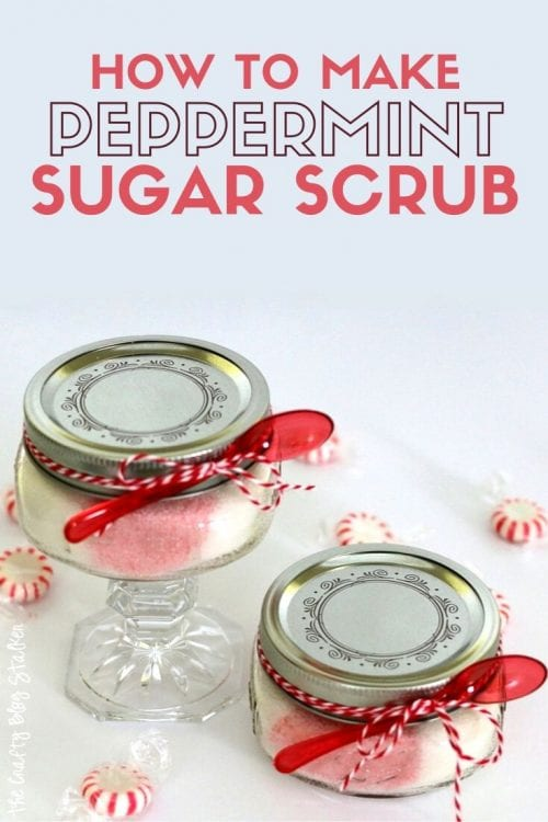 How to Make Peppermint Sugar Scrub, a tutorial featured by top US craft blog, The Crafty Blog Stalker.