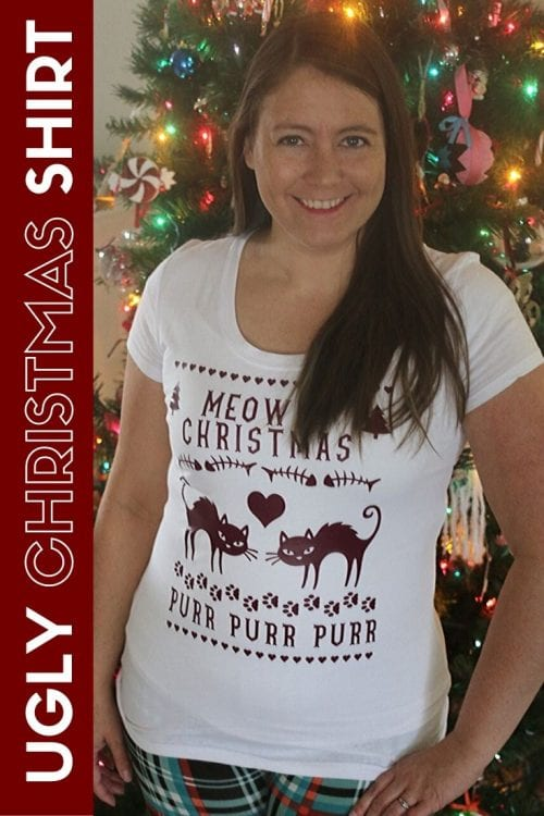 How to Make an Ugly Christmas Sweater Shirt, a tutorial featured by top US craft blog, The Crafty Blog Stalker.