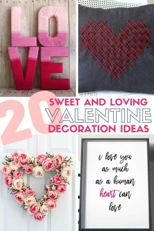 20 Sweet and Loving Valentines Decoration Ideas featured by top US craft blog, The Crafty Blog Stalker.