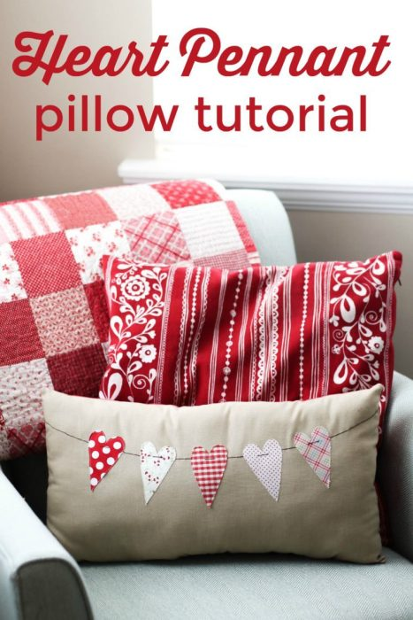 20 Sweet and Loving Valentines Decoration Ideas featured by top US craft blog, The Crafty Blog Stalker: heart pillow.