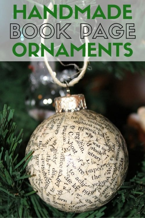 How to Make Handmade Book Page Christmas Ornaments, a tutorial featured by top US craft blog, The Crafty Blog Stalker.