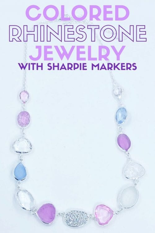 How to Make Colored Rhinestone Jewelry with Sharpies, a tutorial featured by top US craft blog, The Crafty Blog Stalker.