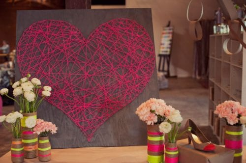 20 Sweet and Loving Valentines Decoration Ideas featured by top US craft blog, The Crafty Blog Stalker: DIY string heart.