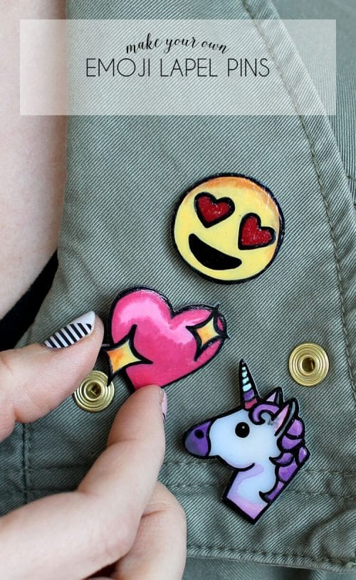 20 Handmade Gift Ideas featured by top US craft blog, The Crafty Blog Stalker: Emoji Lapel Pins