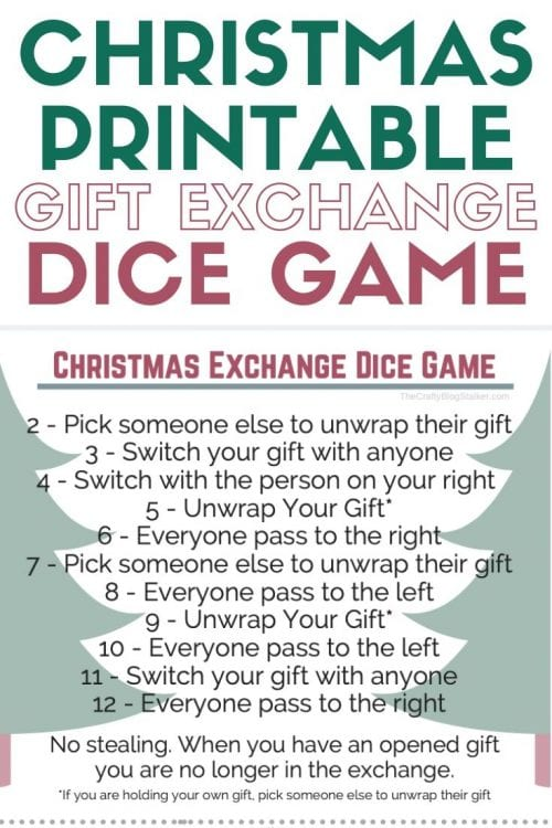Christmas Dice Game with Free Printable | Christmas Party | Holiday Parties | How to Play | Easy DIY Craft Tutorial Idea | Christmas Dice Game by popular lifestyle blog, The Crafty Blog Stalker: printable Christmas Dice Game Instructions.