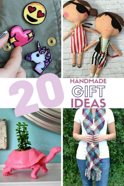 20 Handmade Gift Ideas featured by top US craft blog, The Crafty Blog Stalker.