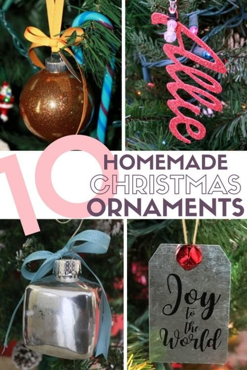 10 Homemade Christmas Ornaments featured by top US craft blog, The Crafty Blog Stalker: