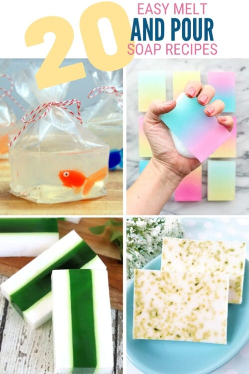 title image for 20 Easy Melt and Pour Soap Recipes for Beginners
